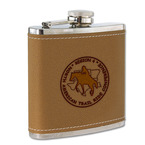 Leather/Stainless Horse Show Award Flask