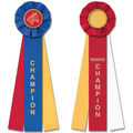CH or RCH Equestrian Stock Rosette Award Ribbon