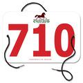 Custom Large Rectangular Rider Number w/ String