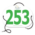 Custom Large Oval Rider Number w/ String