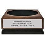 Medium Walnut Horse Show Presentation Base w/ plate
