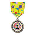 GBX Full Color Medal w/ Multicolor Neck Ribbon