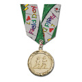 MC School Award Medal w/ Multicolor Neck Ribbon