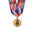 CXC Color Fill Athletic Award Medal w/ Any Multicolor Neck Ribbon