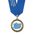 Full Color LFL Swim Award Medal w/ Any Satin Neck Ribbon