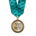 Metallic LFL Swim Award Medal w/ Any Multicolor Neck Ribbon