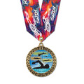 Full Color LFL Swim Award Medal w/ Any Multicolor Neck Ribbon