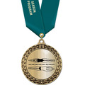 Metallic GFL Swim Award Medal w/ Any Satin Neck Ribbon
