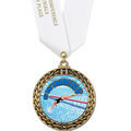 Full Color GFL Swim Award Medal w/ Any Satin Neck Ribbon