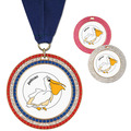 Full Color GEM Swim Award Medal w/ Any Grosgrain Neck Ribbon