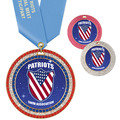Full Color GEM Award Medal w/ Any Satin Neck Ribbon