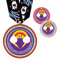 Full Color GEM Swim Award Medal w/ Any Multicolor Neck Ribbon