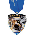 CSM Shield Athletic Award Medal w/ Any Satin Neck Ribbon