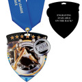 CSM Shield Swim Award Medal w/ Any Satin Neck Ribbon - ENGRAVED
