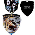 CSM Shield Swim Award Medal w/ Any Multicolor Neck Ribbon - ENGRAVED