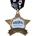 Full Color AS All Star Swim Award Medal w/ Any Multicolor Neck Ribbon
