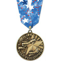 WC Medal w/ Spirit Multicolor Neck Ribbon