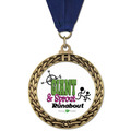Full Color GFL Sports Award Medal w/ Any Grosgrain Neck Ribbon