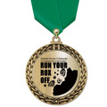 Metallic GFL Sports Award Medal w/ Any Satin Neck Ribbon