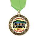 Full Color GFL Sports Award Medal w/ Any Satin Neck Ribbon