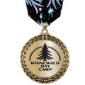 Metallic GFL Sports Award Medal w/ Any Multicolor Neck Ribbon