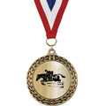 Metallic GFL Horse Show Award Medal w/ Any Grosgrain Neck Ribbon