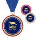Full Color GEM Horse Show Award Medal w/ Any Grosgrain Neck Ribbon