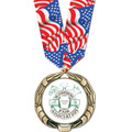 XBX Full Color Award Medal w/ Any Multicolor Neck Ribbon