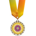 ST Full Color Award Medal w/ Specialty Neck Ribbon