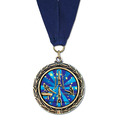 LXC Color Fill Athletic Award Medal w/ Any Grosgrain Neck Ribbon