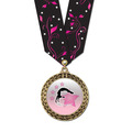 Full Color LFL Gymnastics Award Medal w/ Any Multicolor Neck Ribbon