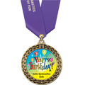 Full Color GFL Gymnastics Award Medal w/ Any Satin Neck Ribbon