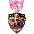 CSM Shield Athletic Award Medal w/ Any Multicolor Neck Ribbon