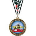 Full Color GFL Wrestling Award Medal w/ Any Grosgrain Neck Ribbon