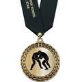 Metallic GFL Wrestling Award Medal w/ Any Satin Neck Ribbon