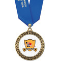 Full Color GFL Wrestling Award Medal w/ Any Satin Neck Ribbon