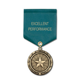MX Medal w/ Satin Drape Ribbon