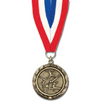 MX Award Medal w/ Grosgrain Neck Ribbon