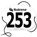 Custom Oval Exhibitor Rider Numbers with String
