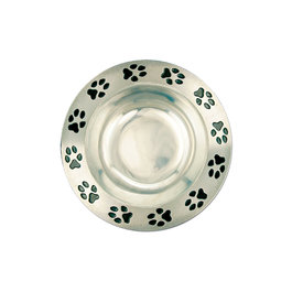 Pewtarex&#8482; Paw Print Rim Bowl