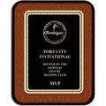 7&quot; x 9&quot; Walnut Award Plaque