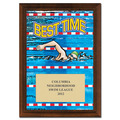 Best Time Swim Award Plaque - Cherry Finish