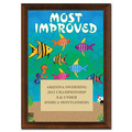 Most Improved Swim Award Plaque - Cherry Finish