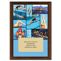 Swim Collage Award Plaque - Cherry Finish