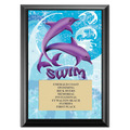Dolphins Swim Award Plaque - Black