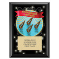Synchronized Swimming Award Plaque - Black
