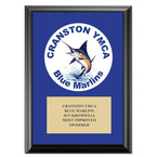 Custom Swimming Award Plaque - Black