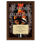 Full Color Academic Excellence Plaque - Cherry Finish
