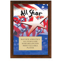 "5"" x 7"" Full Color All Star Plaque - Cherry Finish"