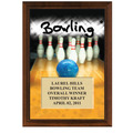 5&quot; x 7&quot; Full Color Bowling Plaque - Cherry Finish